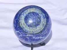 Large, polished Lapis Lazuli sphere - 80mm - 1480gm