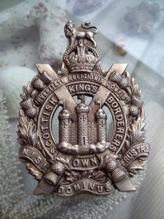 "United Kingdom ""helmet badge Scottish Kings Borderers"""