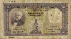 Portugal - 50 Escudos, from 18-11-1932 - Duque de Saldanha - Pick 146