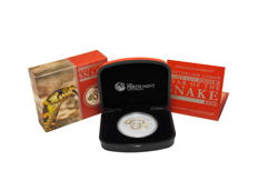 Australia - $1 - Lunar II 1 oz Year of the Snake - 2013 - proof with certificate & box - colour edition - silver - 999 fine silver