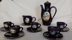 Hand painted coffee set