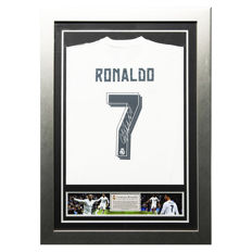 Cristiano Ronaldo Signed Real Madrid Framed 2015/2016 Home Shirt