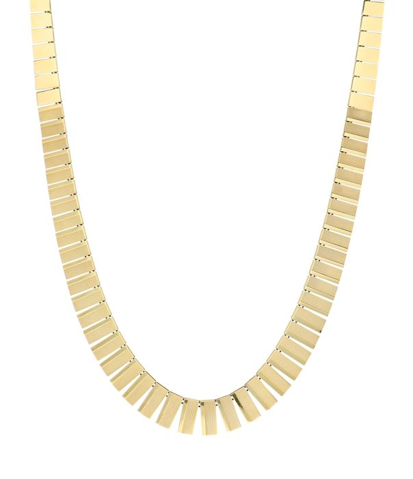 Yellow gold link necklace in 14 kt.