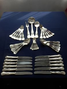 45-piece silver plated cutlery set.