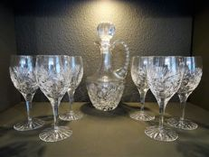Crystal seven pieces wine set by Violetta