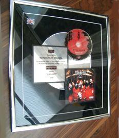 "Slipknot BPI ""Slipknot"" Platinum very rare award"