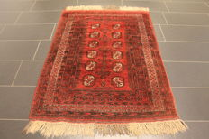 Beautiful Afghan Art Deco oriental carpet, wool on wool, Afghanistan, 110 x 160 cm