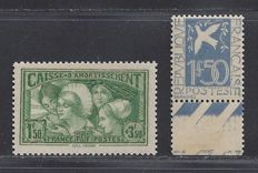 France 1931 - Caisse d'Amortissement and Paix - Yvert n° 269 + 294