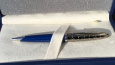 Waterman Carene Contemporary Blue and Gunmetal Ballpoint Pen ST