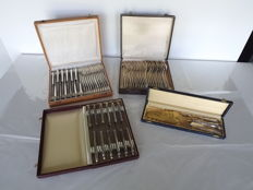 Silver plated cutlery rococo style complete 100 - Around 1920