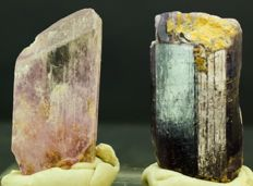 Natural Pink Kunzite Crystal and Rare Violet Purple Scapolite Crystal Lot - 74 gram (2)