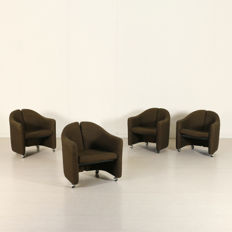 Eugenio Gerli for Tecno - Armchairs, model: PS142
