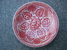 Porceleyne Fles - Red crackle bowl