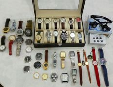 Collection of watches, vintage and not, mechanical, Quartz. - some new