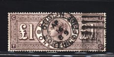 Great Britain 1888 – £1 – Stanley Gibbons 186