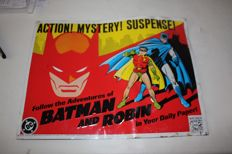 Batman and Robin metallic sign by kitchen sink press - 1990