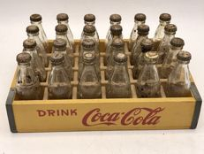 Original miniature Coca Cola crate with 24 bottles ca. 1950