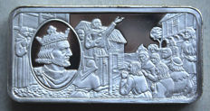 United Kingdom - motif bars 1973 (Franklin Mint) Henry III King of England 1216 - 1272 ± 70 grams - silver