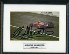 Michele Alboreto Ferrari team  Driver  Autographed Colour Photograph    1956- 2001.