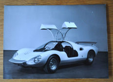 1967 Ferrari Dino Berlinetta prototype original black and white Pininfarina press photograph