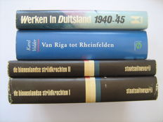 WW II; Lot with 3 reference works in 4 bindings about WW II - 1972/1996