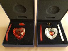 Swarovski - Red heart and two-coloured heart