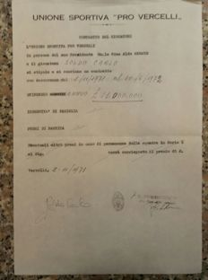 Original contracts Pro Vercelli