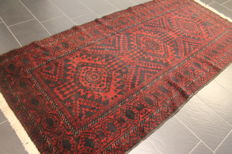 Hand-knotted Persian collector's carpet, Belutsch, rug, made in Iran, 130 x 276 cm