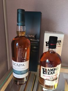 2 bottles - Hammerhead 23 years old 1989 & Scapa 16