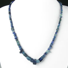 Necklace with Roman blue glass beads - 55 cm