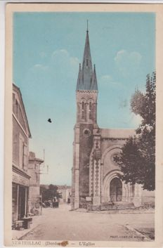 very good lot of 200 old postcards of cities and villages of France