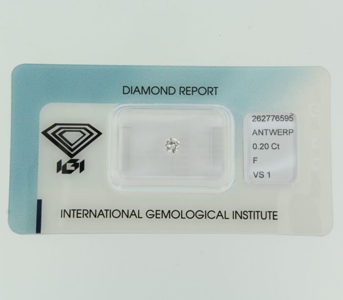 0.20 ct brilliant cut diamond, F, VS1
