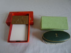 2 x Items of the Rotterdam Lloyd, including notebook holder and manicure set both in original box-rare