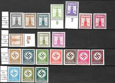 German Empire 1920/1944 - A small selection on stock cards