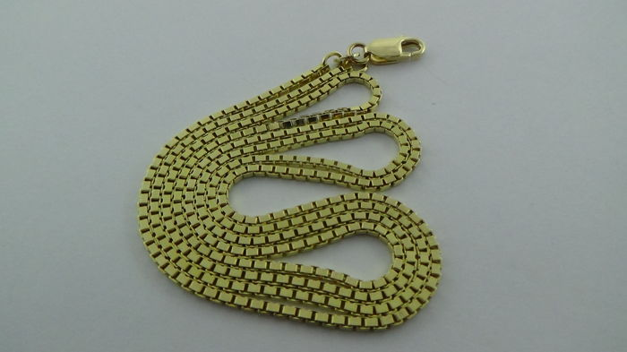 Gold gold Venetian link necklace of 14 kt – Length: 71 cm – 14.82 g