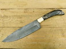 Handmade kitchen knife - Damascus steel