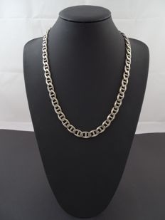 Silver 925, anchor link necklace - 59.3 cm.