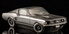 """Unique 1/18 model of Ford Mustang """" The Bullit """" in tin. 26 x 9 x 7 cm."""