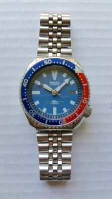 Seiko Vintage Blue Pepsi – Men's diver's watch – 12-1994