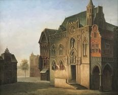 V.d. Kamp (unknown) - Townscape church