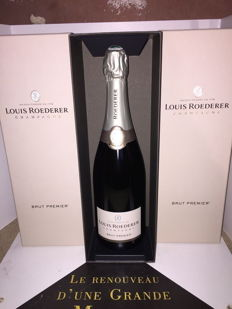 Louis Roederer Brut Premier champagne - 3 bottles (75cl) in box