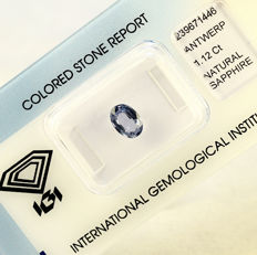 Green blue sapphire – 1.12 ct – no reserve