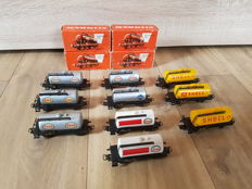 Märklin H0 - 4500/4501/4502 - Aral, Esso and Shell:  10 x tank carriages of the DB