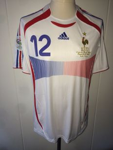 Thierry Henry / France - World Cup 2006 Final shirt; France vs Italy, player version.