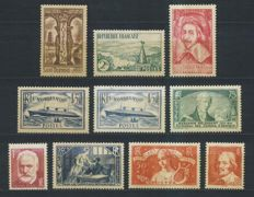 France 1935 - Complete year - Yvert no. 299 to 308