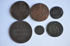 Russia - 6 coins 1731-1909