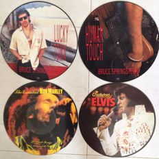 Bruce Springsteen - Bob Marley - Elvis Presley Limited official Picture discs in great condition