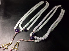 Beautiful 2 strings of violet stone beads from Burma