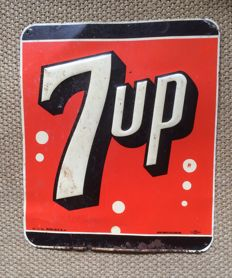 Original 7UP sign, metal, USA 1951