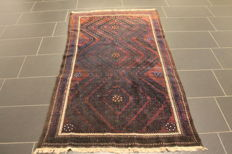Antique hand-knotted Persian collector's carpet, Belutsch, rug, made in Iran, 100 x 180 cm